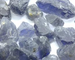 1000Ct Natural Iolite Facet Rough Parcel