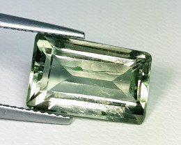 6.13 ct Top Grade Awesome Rectangle Cut Natural Green Amethyst