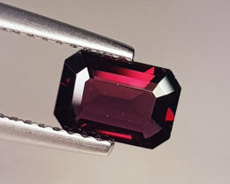 1.00 ct Exclusive Gem  Emerald Cut Natural  Pink Spinel