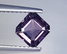 1.02 ct AAA Grade Gem  Square Cut Natural  Purplish Pink Spinel