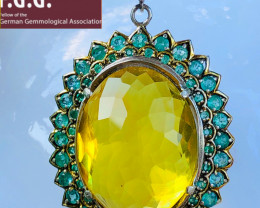 244.7 ct Emerald, Amber, Amethyst - UNIQUE