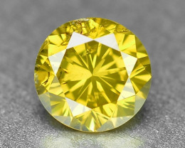 0.29 Cts Sparkling Rare Fancy Vivid Yellow Color Natural Loose Diamond