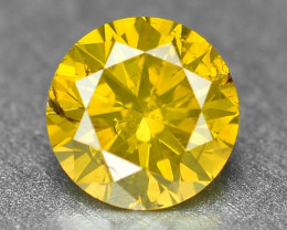 0.30 Cts Sparkling Rare Fancy Vivid Yellow Color Natural Loose Diamond