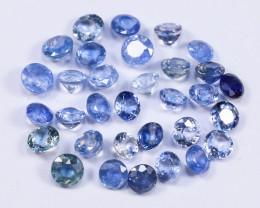 5tcw Natural Blue 3-3.5mm Round Ceylon Sapphire Parcel