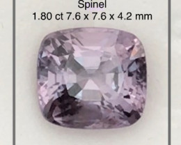 1.80 ct Luminous Lilac Grey  Spinel,  - Myanmar Ref4 G320
