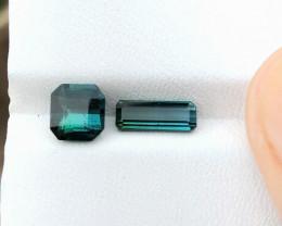 2.25 Ct Natural Dark  Blueish Transparent Tourmaline Gems Parcels