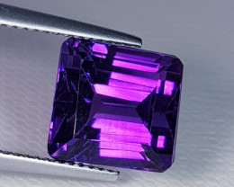 7.05 ct  Top Quality Gem Square Cut Natural Purple Amethyst