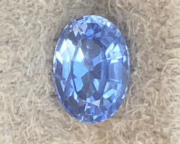1.25 ct sapphire certified unheated.