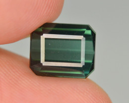 3.55 Carat Natural Green Blue Tourmaline Gemstone SKU 13