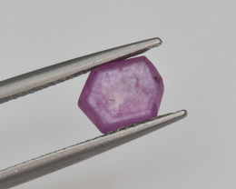 Natural Ruby 1.40 Cts with Hexagonal Pattern from Guinea