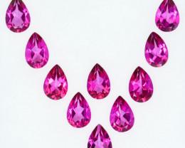 4.77 Cts Candy Pink Natural Topaz 6x4mm Pear Cut 10 Pcs Brazil