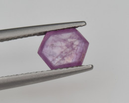 Natural Ruby 1.41 Cts with Hexagonal Pattern from Guinea