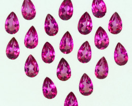 5.76 Cts Candy Pink Natural Topaz 5x3mm Pear Cut 20 Pcs Brazil