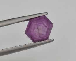 Natural Ruby 2.58 Cts with Hexagonal Pattern from Guinea