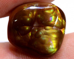 Mexican Fire Agate Stone Polished 14cts D-84