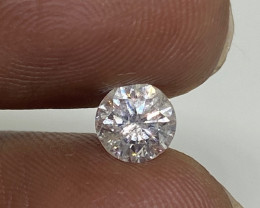 (1) Cert $1784 Fiery 0.76cts  SI3 White Loose Diamond Round  Natural