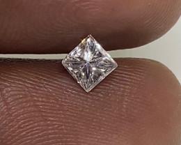 (2) IGL Cert Stunning $1150 Nat 0.47ct. VVS2 Princess Cut White Diamond