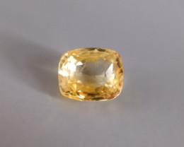 6.47ct Unheated Yellow Sapphire, Sri Lanka