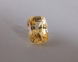 6.65ct Unheated Yellow Sapphire, Sri Lanka