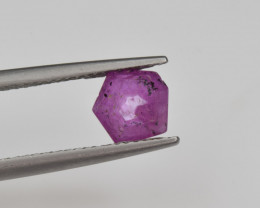 Natural Ruby 1.11 Cts with Hexagonal Pattern from Guinea