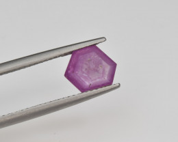 Natural Ruby 1.85 Cts with Hexagonal Pattern from Guinea