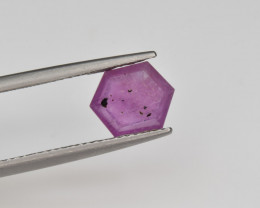 Natural Ruby 1.88 Cts with Hexagonal Pattern from Guinea