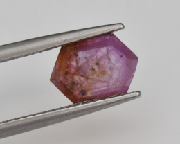 Natural Ruby 2.10 Cts with Hexagonal Pattern from Guinea