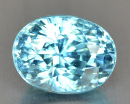 1.37 Cts Blue Zircon Natural Loose Gemstone