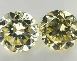 0.18 ct , Pair of Diamonds , Natural Diamond pairs , WR1329