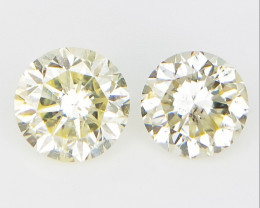0.30 CT , Two Yellow Diamonds