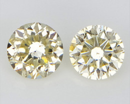 2 pcs/0.21 cts , Diamonds For earrings
