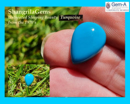 14.2mm Sleeping Beauty Turquoise drop pear cabochon totally image 0 14.2mm