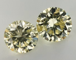 0.24 cts , Brilliant Diamonds , Pair for Jewelry , WR1335