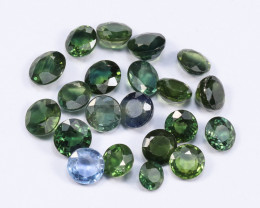 6tcw Natural Blue-Green 4-5mm Round Sapphire Parcel