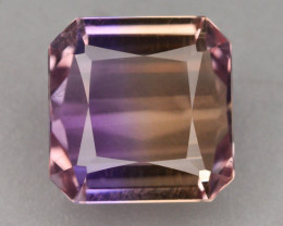 Top Grade5.05 ct Natural Bi Color Bolivian Ametrine T
