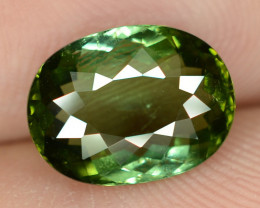 3.40 Ct Natural Green Tourmaline Oval Shape From Nigeria