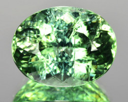 6.33 Cts Unheated Rare Mint Green Color Natural Tourmaline Gemstone