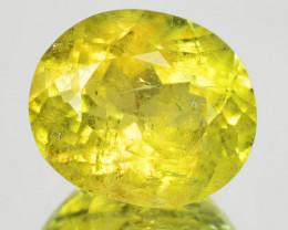 3.33 Cts Unheated Rare Yellow Color Natural Tourmaline Gemstone