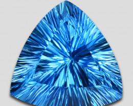 ~SPLENDID~ 23.15 Cts Natural Baby Blue Topaz Trillion Concave Cut Brazil