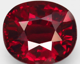 4.69 Ct. Natural Top Red Rhodolite Garnet Africa – IGE Certificate