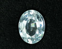 ~UNHEATED~ 1.50 Cts Natural White Sapphire Custom Oval Sri Lanka