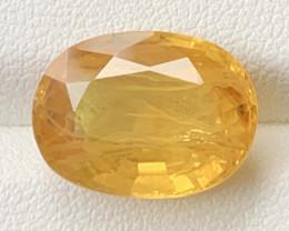 11.15 Carats Yellow Sapphire Gemstone
