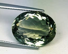 11.54 ct Top Quality Awesome Oval Cut Natural Green Amethyst