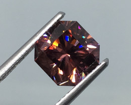 2.80 Carat VVS Zircon Master Cut Out of This World Flash !