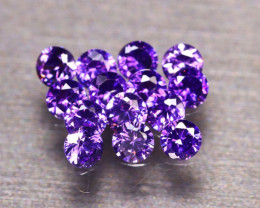Amethyst 4.51Ct 14Pcs Natural Uruguay Electric Purple Amethyst E0307/C1