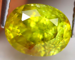 Sphene 2.77Ct Oval Cut Natural Madagascar Vivid Color Sphene C3006