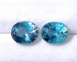 Santa Maria 3.60 cts Aquamarine Gemstones Pair ~ Unheated