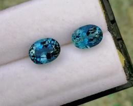 Santa Maria 2.25 cts Aquamarine Gemstones Pair ~ Unheated