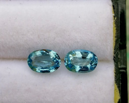 Santa Maria 1.00 cts Aquamarine Gemstones Pair ~ Unheated