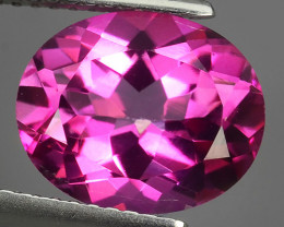 4.50 CTS SUPERIOR! TOP OVAL CUT HOT PINK-TOPAZ GENUINE NR!!